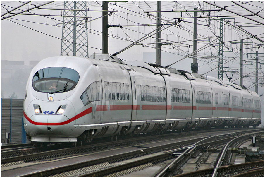 ICE3 train on the Cologne-Frankfurt high-speed line. (Photo by Sebastian Terfloth)